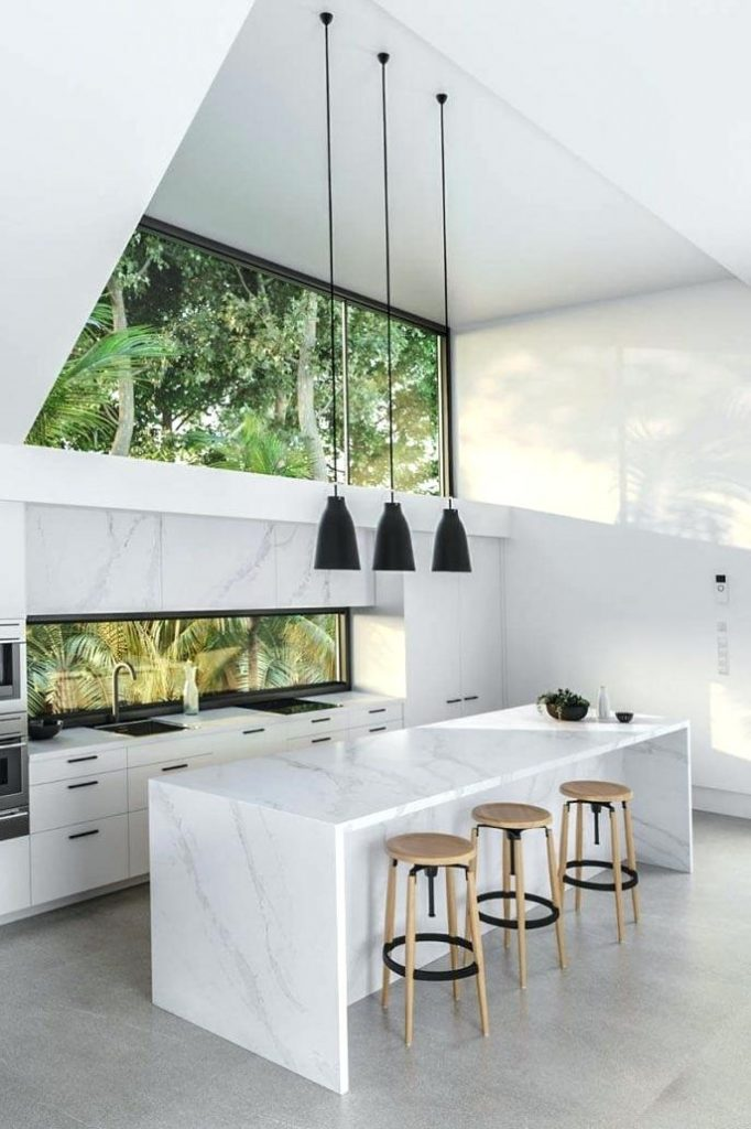 Carrara marble worktops